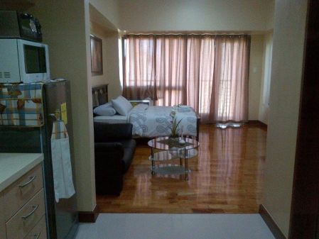Fully Furnished Studio with Balcony Mosaic at Greenbelt