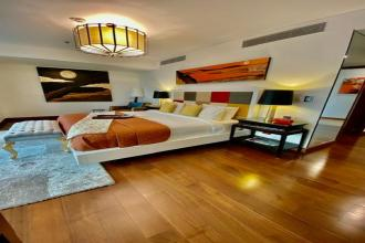 3BR Luxury Furnished with 3 Parking Slot at Two Roxas Triangle