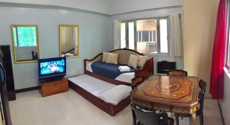 Fully Furnished Studio Unit at Morgan Residences for Rent