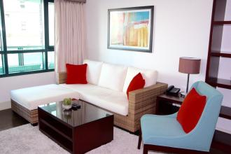 Fully Furnished 1BR Unit at Edades Tower for Rent