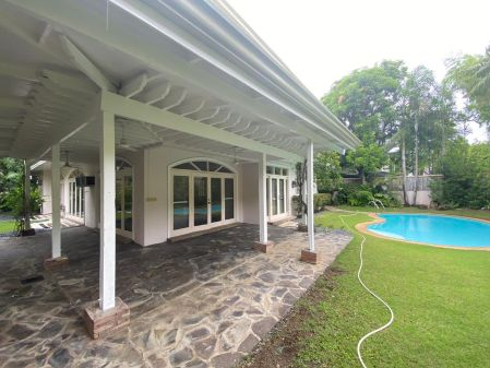 Semi Furnished Ayala Alabang House with Den and Swimming Pool